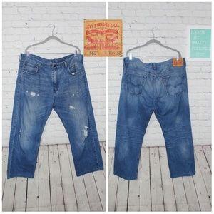 Levis  569 lose straigh relaxdenim  jeans sz 36x32